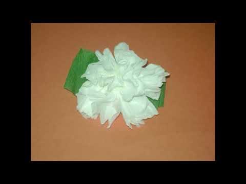 Cómo hacer un clavel usando papel higienico