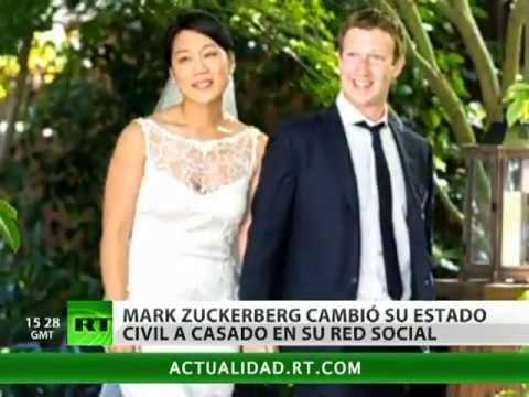 Mark Zuckerberg se casa y lo hace público en Facebook