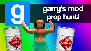 Gmod Prop Hunt Funny Moments 4 - BEST Strategy EVER... Well Almost (Garry