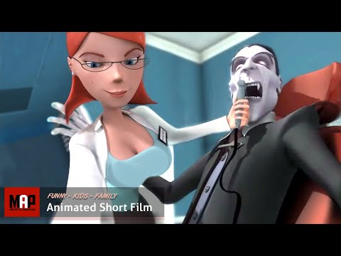 Vampire's Crown (hd) Sexy Dentist Fixes A Tooth, Hilarious Animated Film By Henry Mountain video