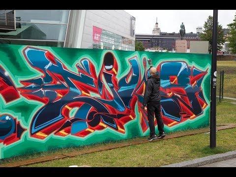 Kiasma Wall 2013 - Graffiti wall in the center of Helsinki