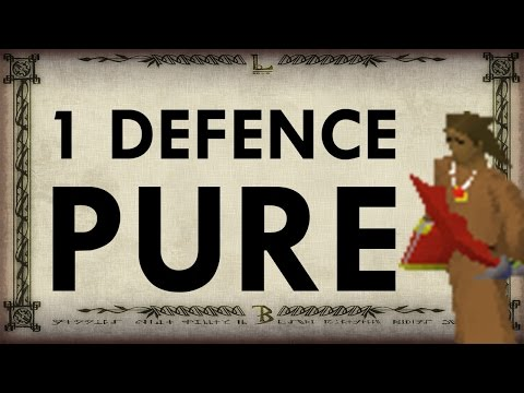 Oldschool Runescape 1 Defence Pure Guide