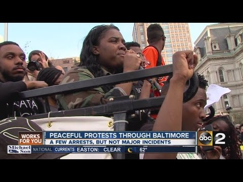 Baltimore protesters want answer's for Freddie Gray's death