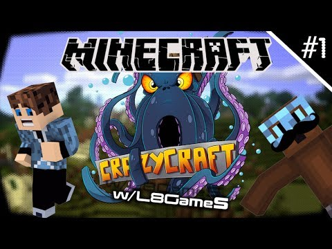 Minecraft Modded Survival: Crazy Craft - BOSS CHAOS [Episode #1] w/L8Games [HD]