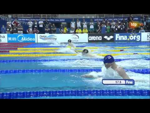 Men's 4x100m  Medley Relay 12th Fina World Swimming Championships (25m) Doha 2014 video