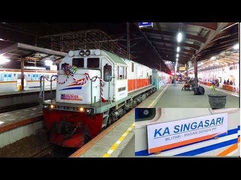 Perdana, Launching KA Singasari Relasi Blitar - Pasar Senen sebagai peganti KA Krakatau