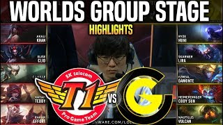 SKT vs CG Highlights Worlds 2019 Group Stage Day 7 - SKT T1 vs Clutch Gaming Highlights Worlds 2019
