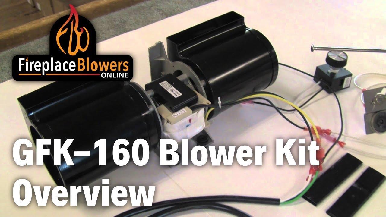 Gfk 160 Fireplace Blower Fan Kit Overview Youtube