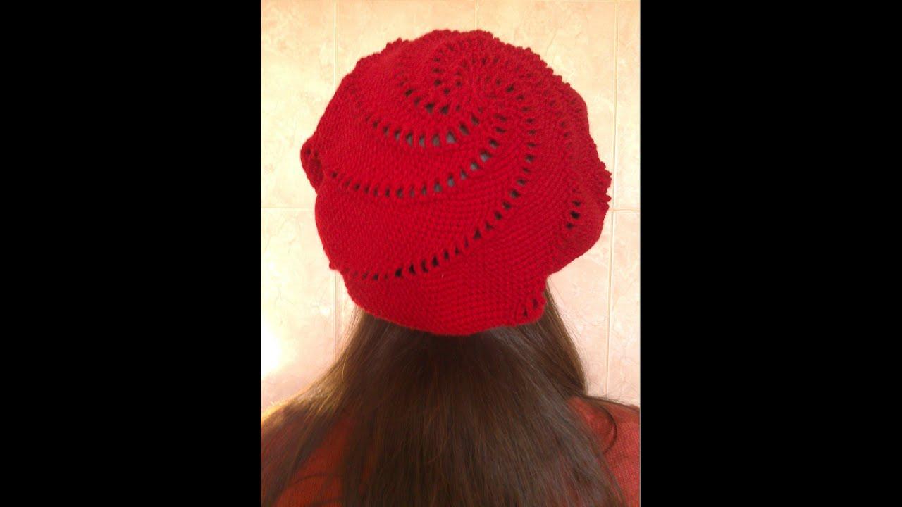 Вязание шапки береты мастер класс 80