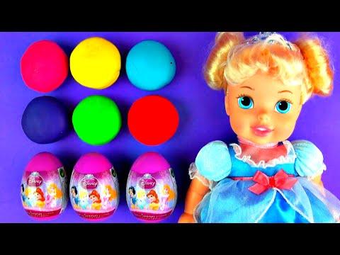 Disney Princess Play-Doh Surprise Eggs Disney Frozen Shopkins Mickey Mouse Toy Story Toys FluffyJet