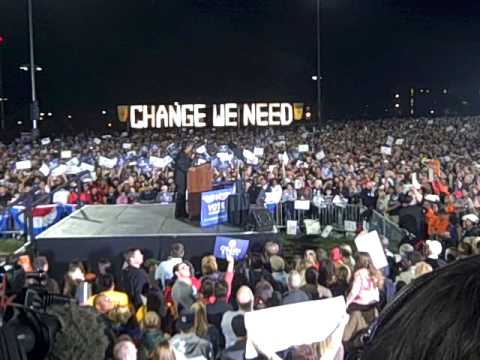 Obama Rally UNM: United States of America not the Divided States of America""