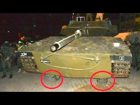 Hamas Show Off Homemade Tank At Tunnel Fighters' Funeral