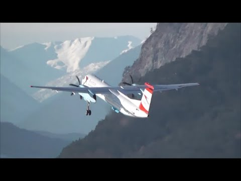 Incredible Planespotting at Innsbruck Airport! 26/01/15