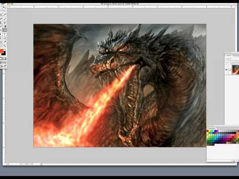 Original Dragon Speed-paint vid in real-time....