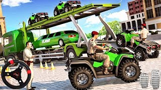 US Army Quad Bike limo Car Transporter Truck - Android GamePlay