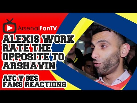 Alexis Sanchez Work Rate The Opposite to Arshavin - Arsenal 1 Besiktas 0