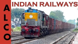 Twin ALCo DIESEL LoCoMOTIVES of INDIAN RAILWAYS with Freight Train !!
