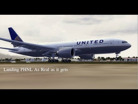 FSX 2014 United Airlines 777-200 Landing at Honolulu As real as it gets