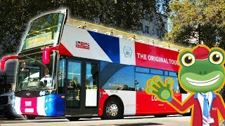 Gecko and The Open Top London Tour Bus | Gecko's Real Vehicles