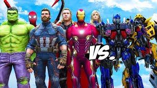THE AVENGERS VS TRANSFORMERS - Optimus Prime, Bumblebee vs Avengers