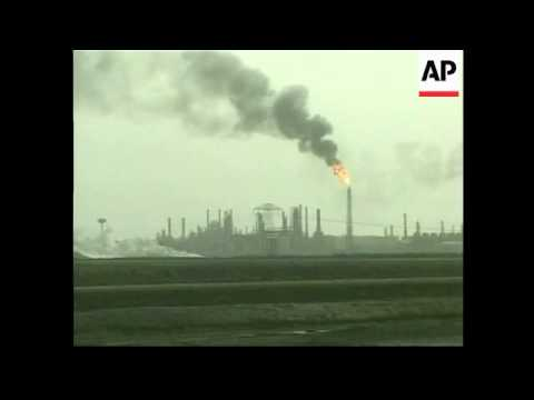Blaze outside one of Iraq's main refineries