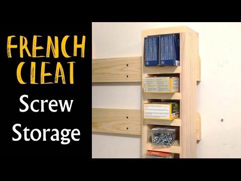 French Cleat Screw Storage / Screw Caddy (CMRW#21)