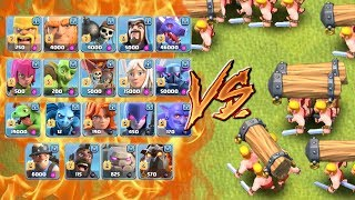 ALL TROOPS VS BATTLE RAM - Who Will Win? Clash of Clans New Troop! CoC Update 2017 Gameplay