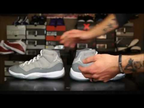 Early Release VS. Retail Release Air Jordan 11 (XI) Cool Grey Comparison