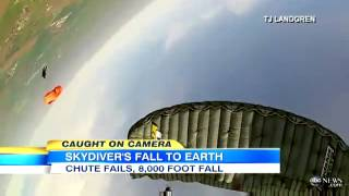 Skydiving Accident, Both Parachutes Fail: Caught on Tape