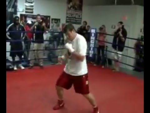 Sultan Ibragimov Media workout -  for his title defense with Evander Holyfield