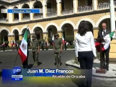 Conmemoran autoridades el Día de la Bandera en Orizaba