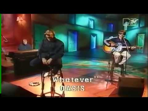 Oasis - Whatever (Acoustic) MTV 1994 (HD)