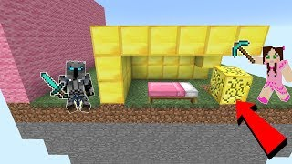 Minecraft: BEDWARS GIANT WALL CHALLENGE!!  from PopularMMOs