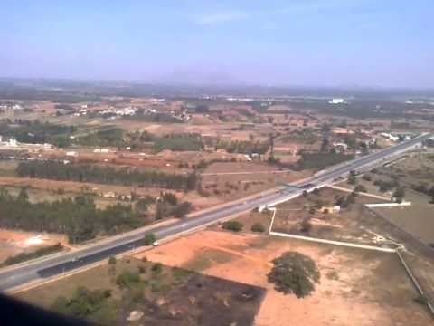 Landing at Bangalore international airport