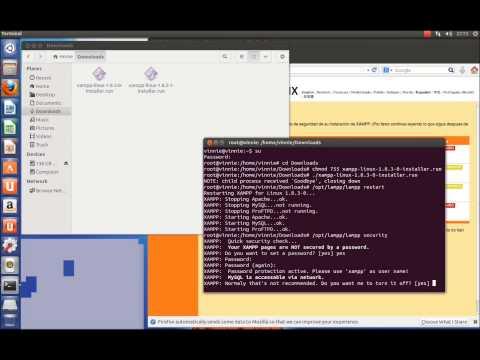 instalación y seguridad de XAMPP en ubuntu 13.04