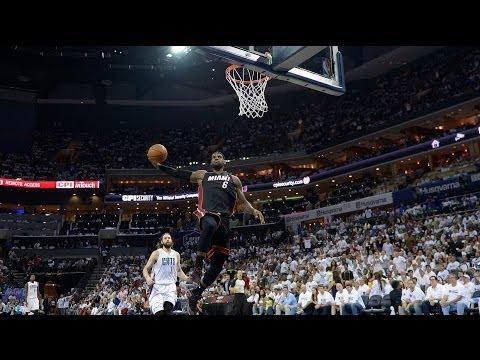 LeBron James Stares Down Michael Jordan During Dunk