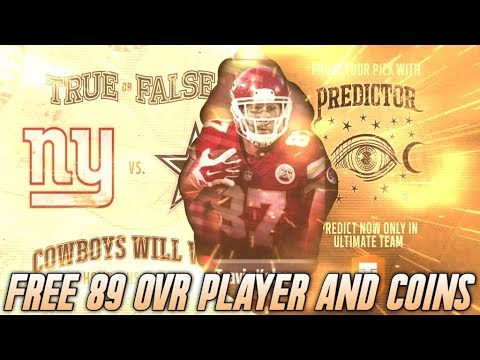 HOW TO GET A FREE 89 OVERALL PLAYER! FREE COINS EVERY WEEK! PREDICTORS AND TEAM LEADERS? | MADDEN 18