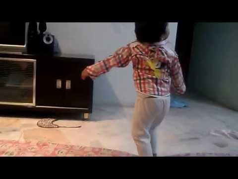 Baby dance on Hindi song Dil mein jo baat hain wo-Qayamat Qayamat...