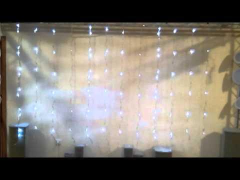 Светодиодные LED шторы 7 stars 288 (White)