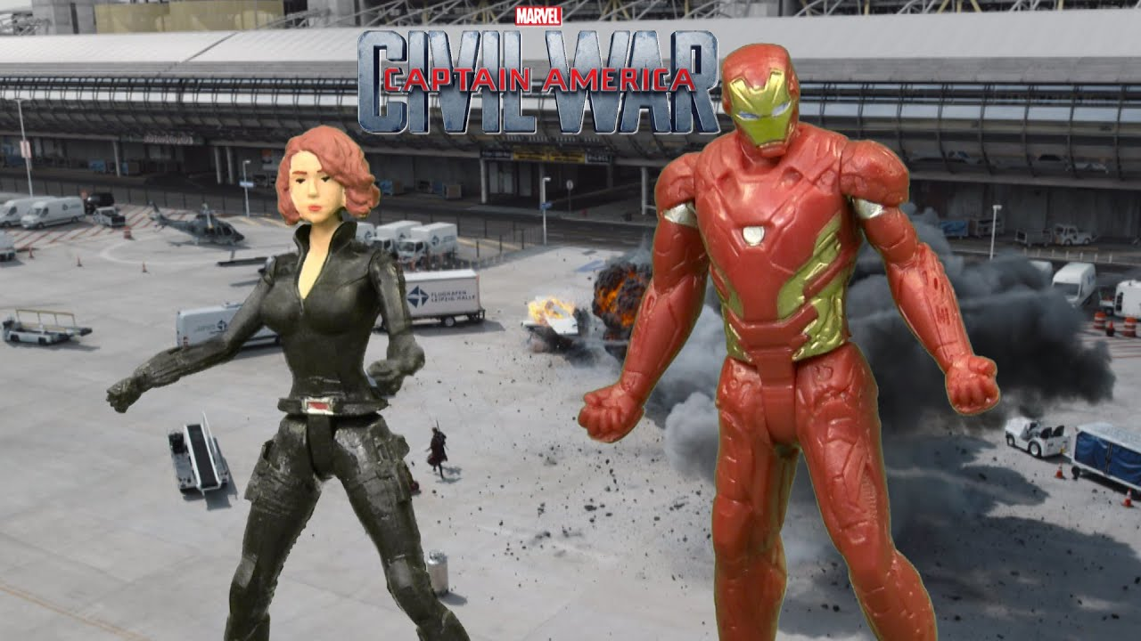 Black widow marvel iron man