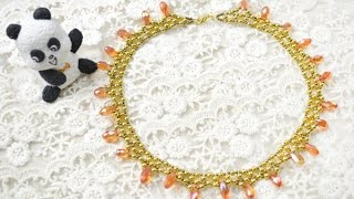PandaHall Jewelry Making Tutorial Video--How to Make a Sunburst Gold Beaded Necklace for Autumn