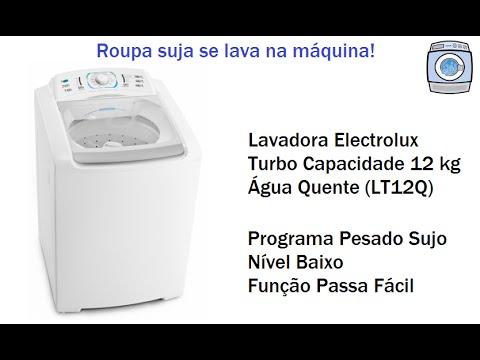 Lavadora Electrolux Turbo Capacidade 12 kg (LT12Q) - Programa Pesado Sujo