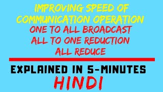 Improving Speed Of Communication Operation(One To All Broadcast,All To One Reduction And All Reduce)