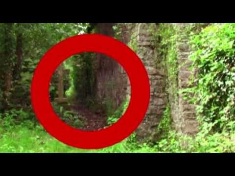 cemetery apparition. real ghost caught on tape in haunted