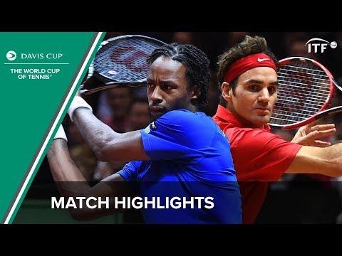 Highlights: Gael Monfils (FRA) v Roger Federer (SUI)