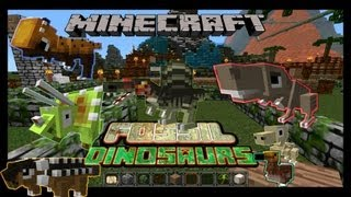 Minecraft: Fossil and Archeology Mod 1.5.2/1.6.2 ALL Dinosaurs