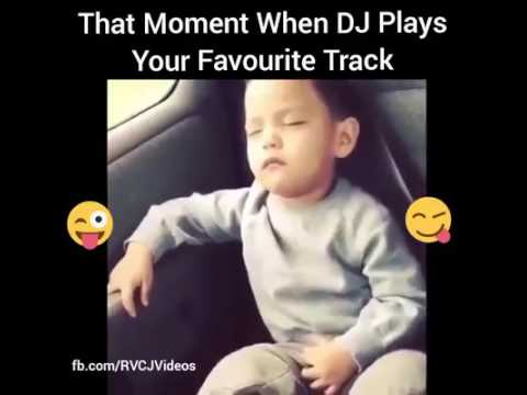 The moment when dj plays your favourite song