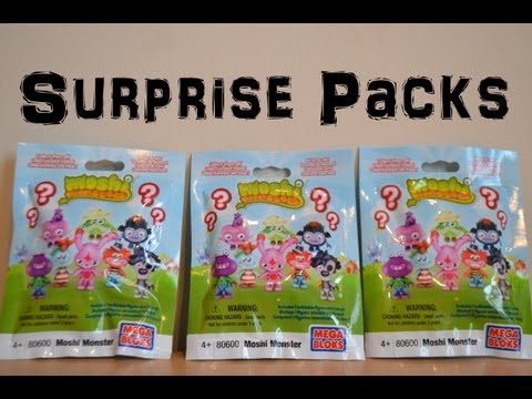 Moshi monsters Surprise Packs Blind Packs Unwrapping Toy Review