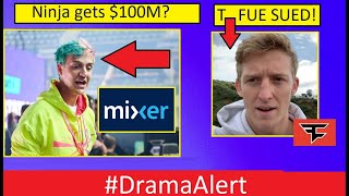 NINJA leaves Twitch FOR $100 Million ? #DramaAlert FaZe Sues Tfue BACK!