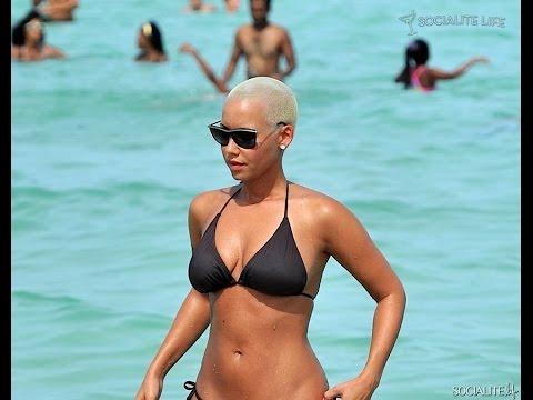 Amber Rose In Bikni On Miami Beach !! USA Live thumbnail